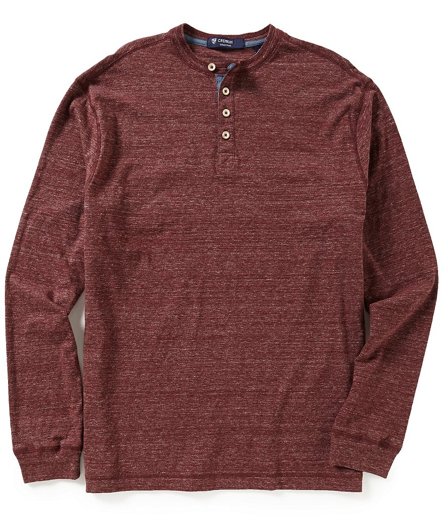 Cremieux Highland Peaks Collection Long-Sleeve Henley Shirt
