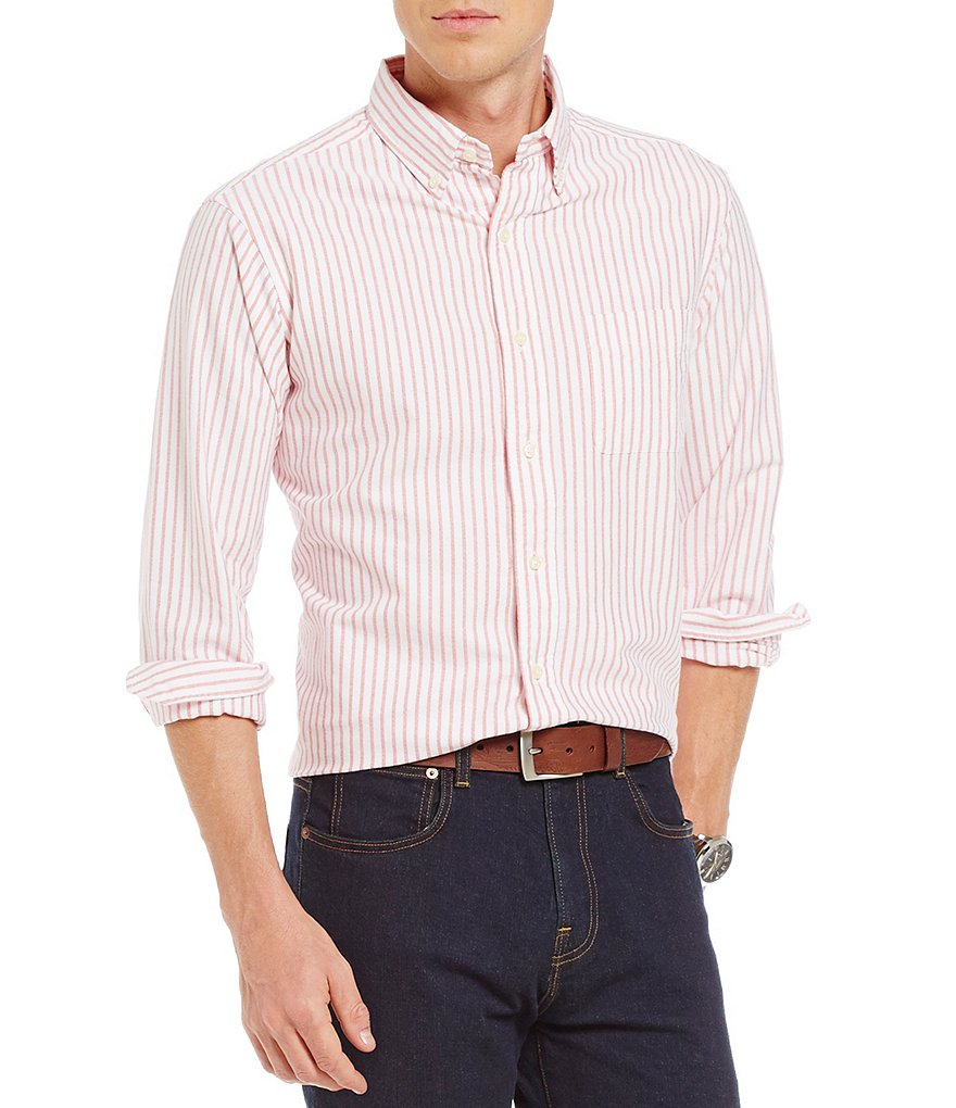 Cremieux Long-Sleeve Stripe Oxford Woven Shirt