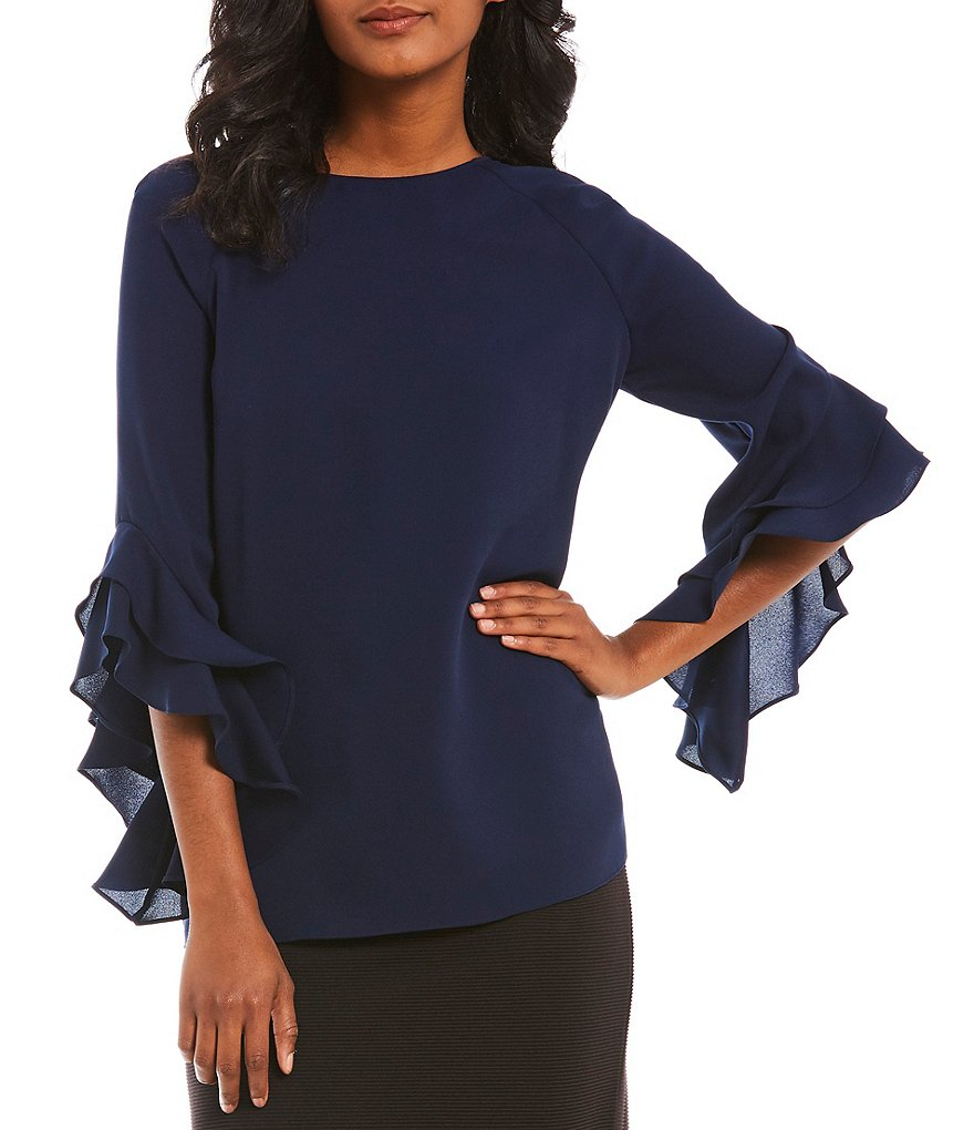 Cremieux Madelyn Georgette Ruffle Sleeve Blouse