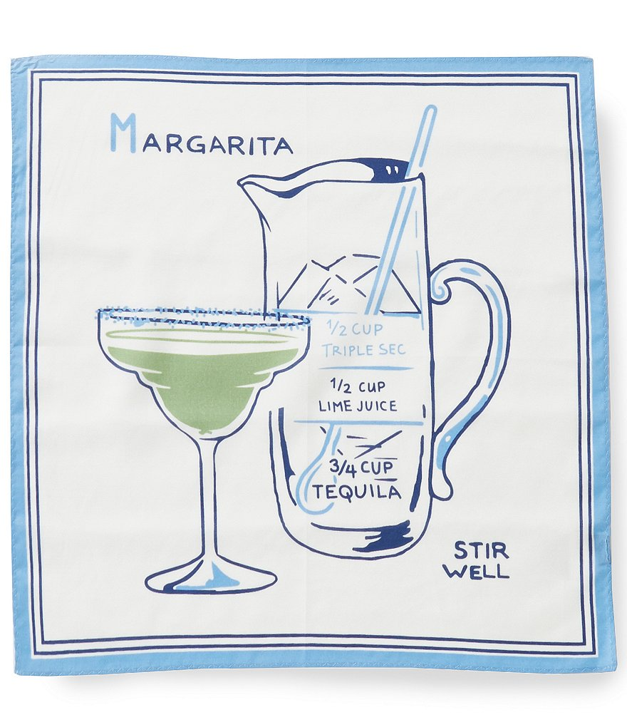 Cremieux Margarita Recipe Print Pocket Square