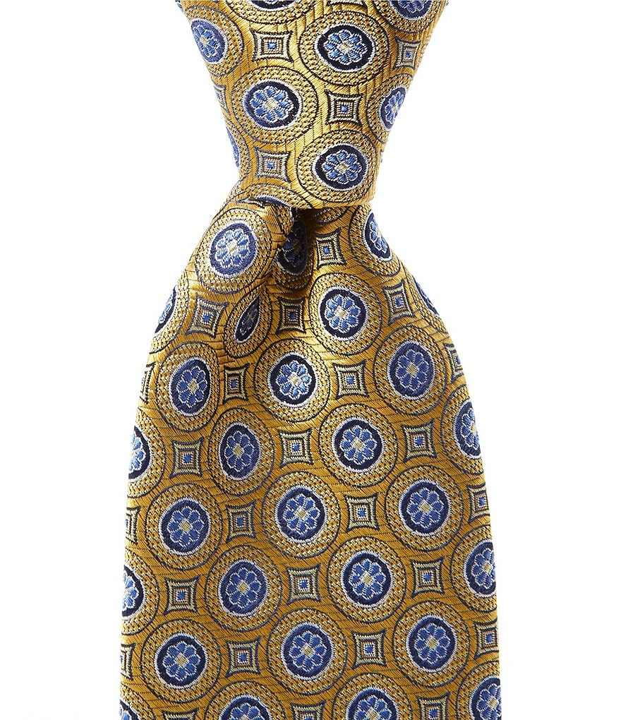 Cremieux Medallion Dial Traditional Silk Tie