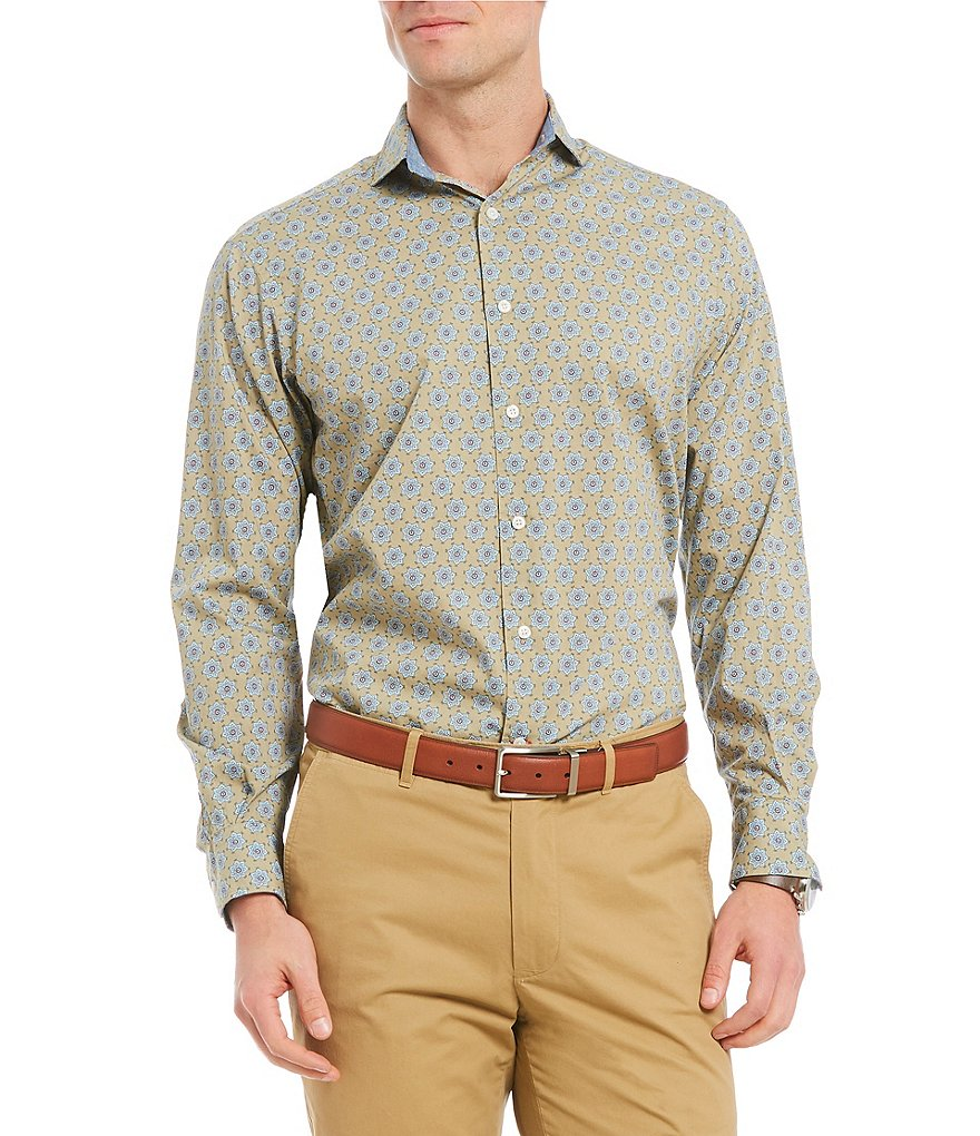 Cremieux Medallion Print Long-Sleeve Woven Shirt