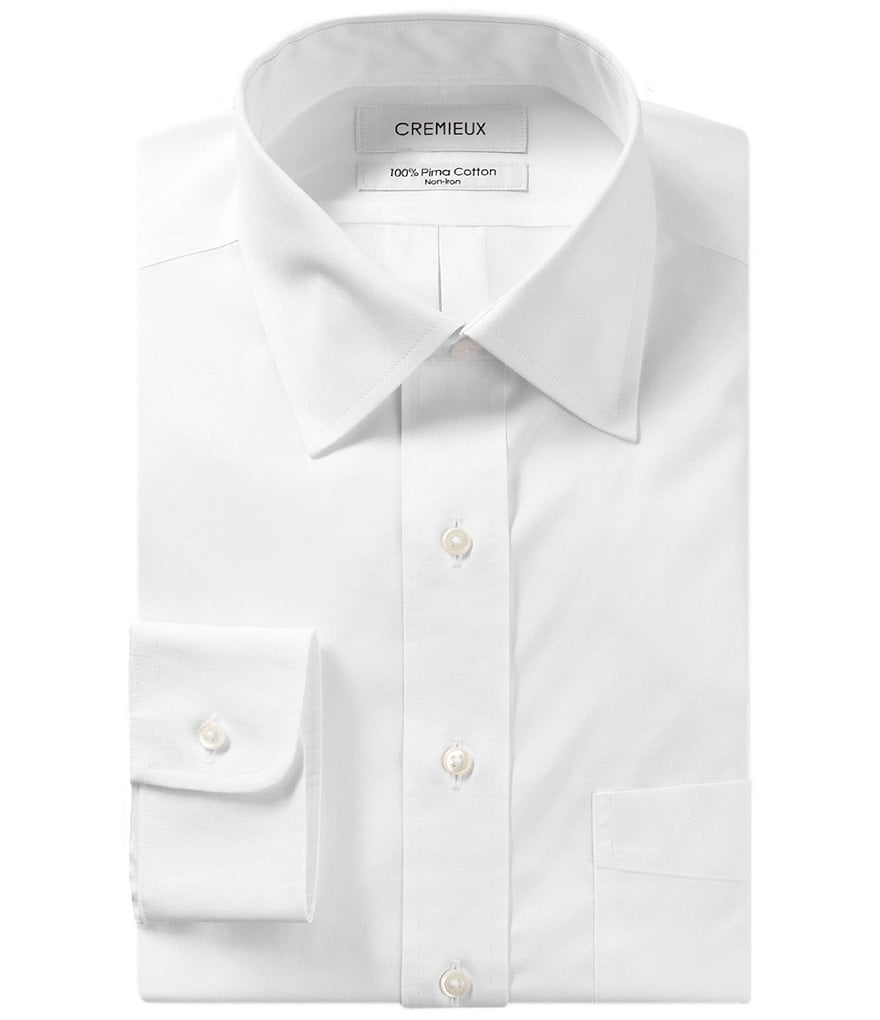 Cremieux Non-Iron Classic-Fit Spread-Collar Solid Dress Shirt