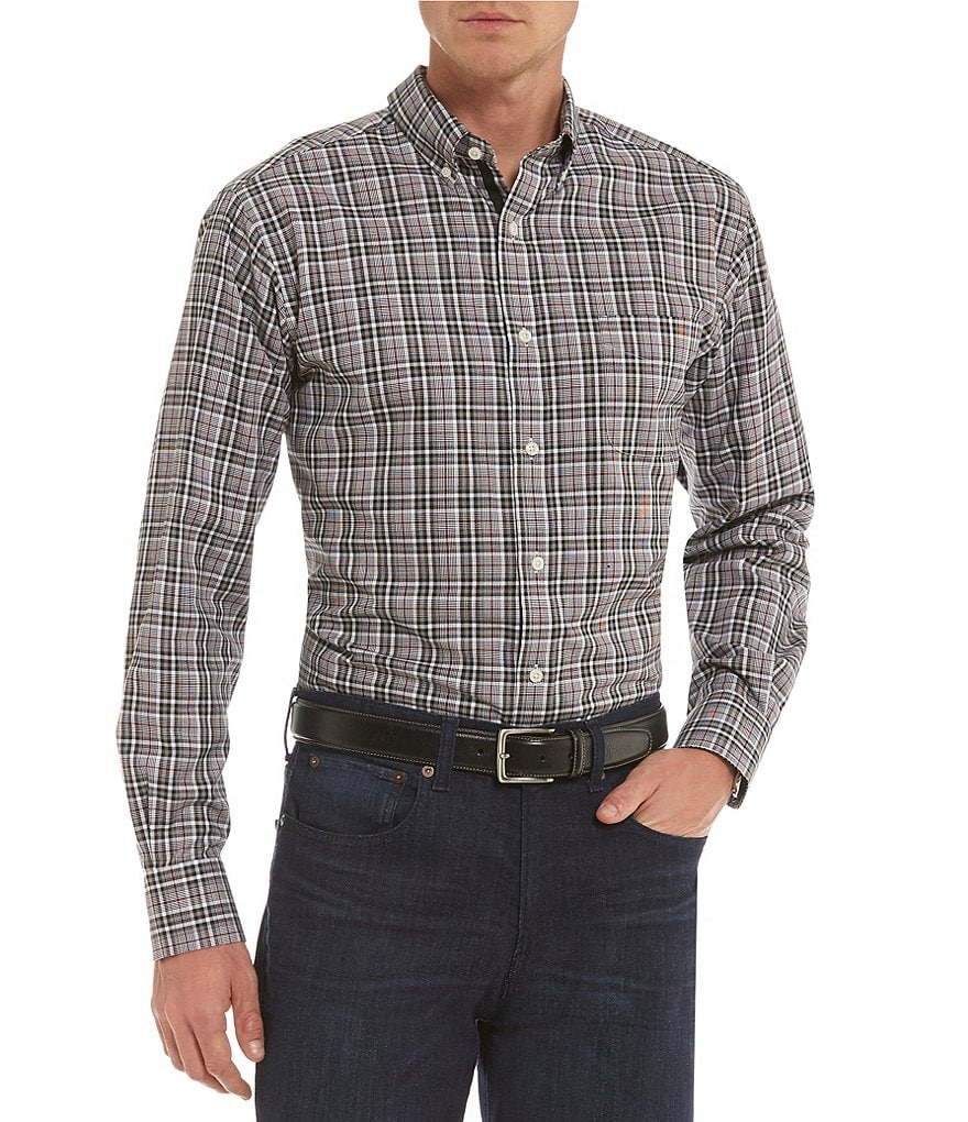 Cremieux Plaid Long-Sleeve Woven Shirt