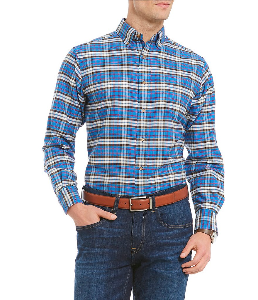 Cremieux Large Plaid Oxford Long-Sleeve Woven Shirt