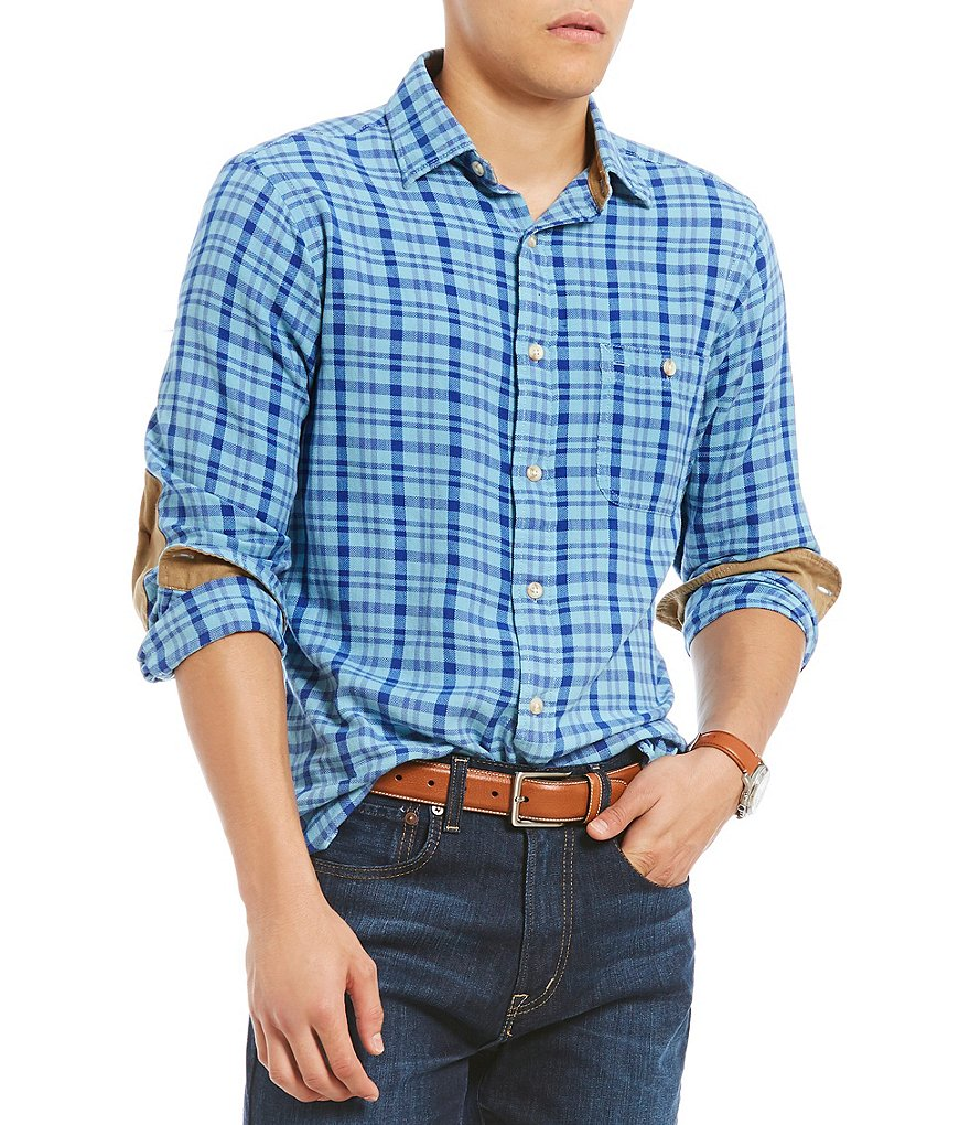Cremieux Plaid Vintage Twill Long-Sleeve Woven Shirt