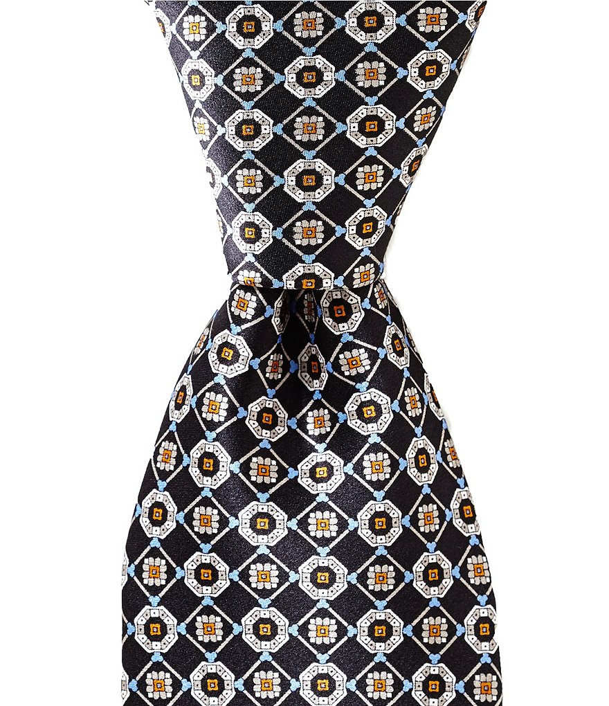 Cremieux Print Medallion Traditional Silk Tie