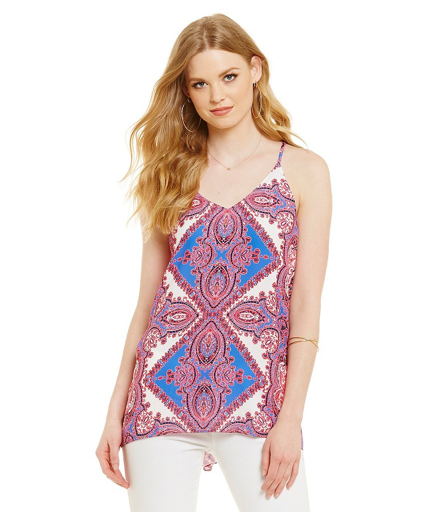 Cremieux Shelby Printed Sleeveless Georgette Blouse