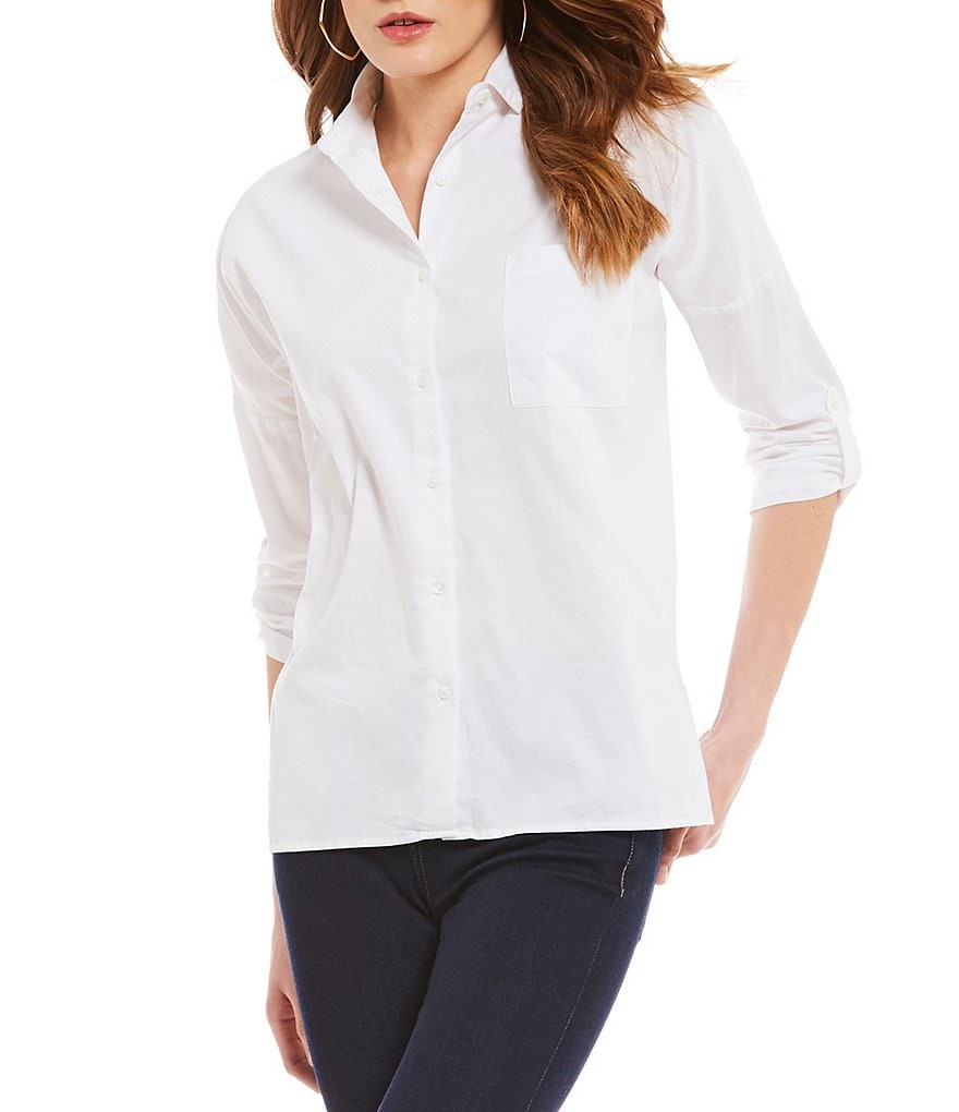 Cremieux Simon Button Front Blouse