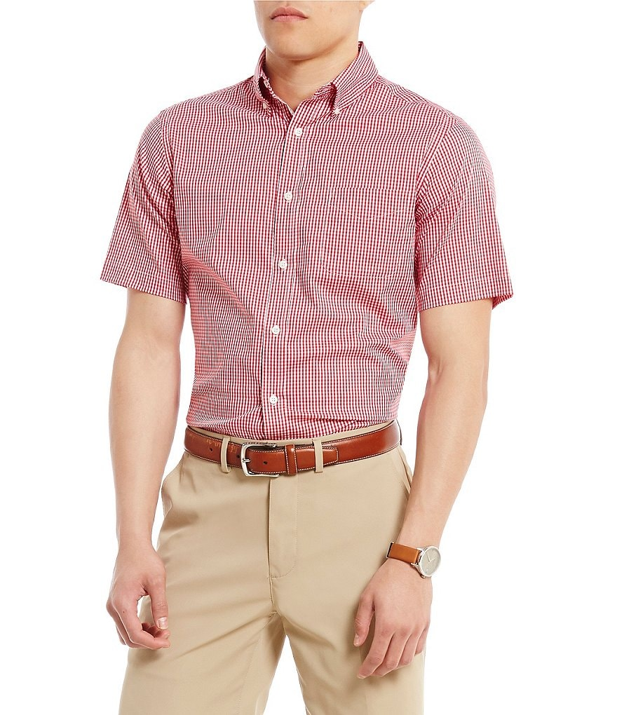 Cremieux Soho Mini-Check Short-Sleeve Woven Shirt