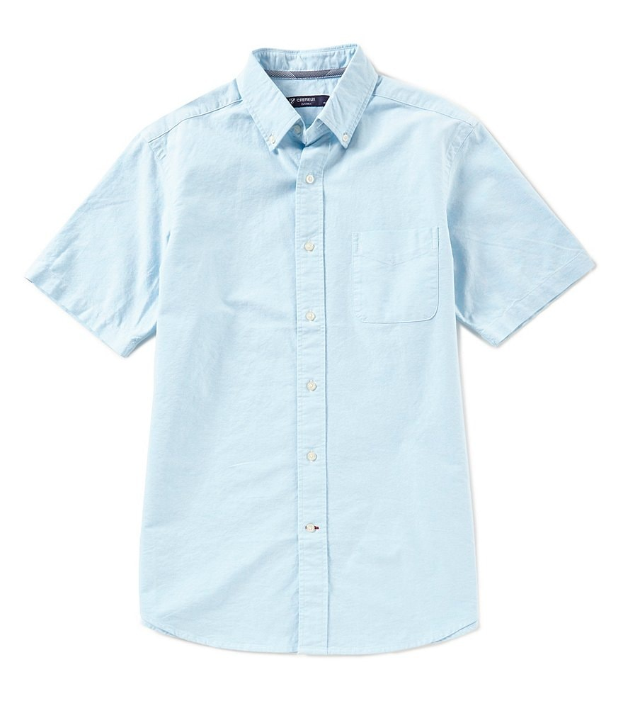 Cremieux Solid Oxford Short-Sleeve Woven Shirt