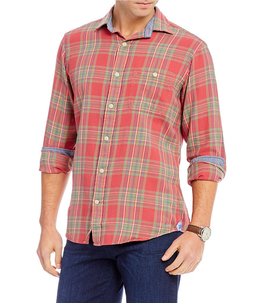Cremieux Sologne Large Windowpane Plaid Long-Sleeve Woven Shirt