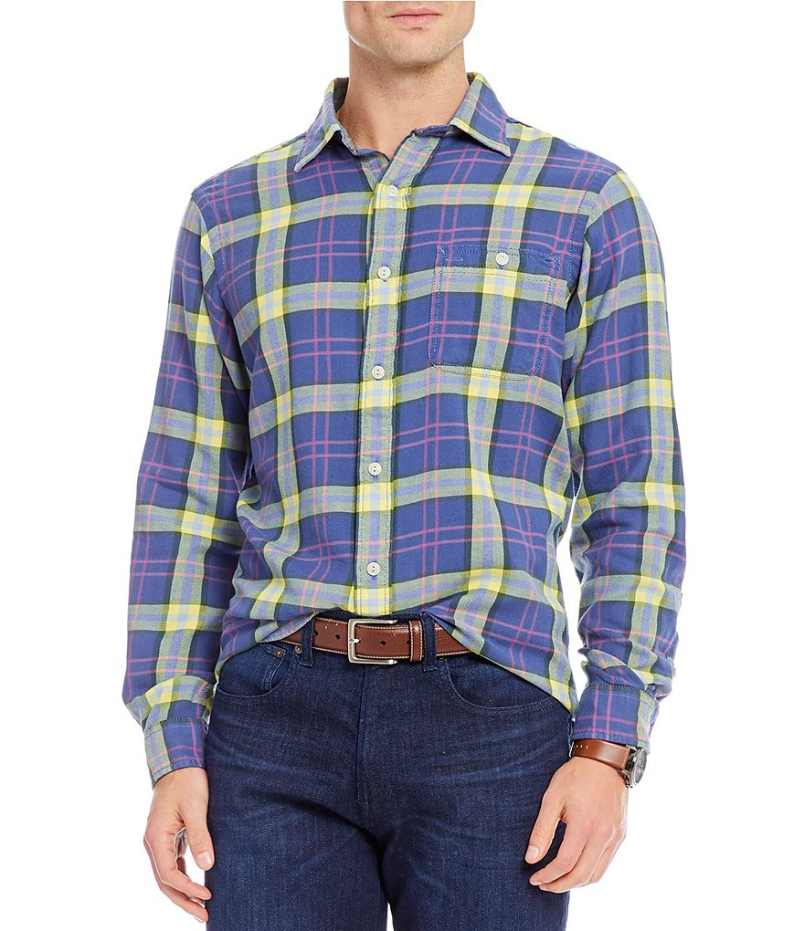 Cremieux Sologne Plaid Vintage Twill Long-Sleeve Woven Shirt