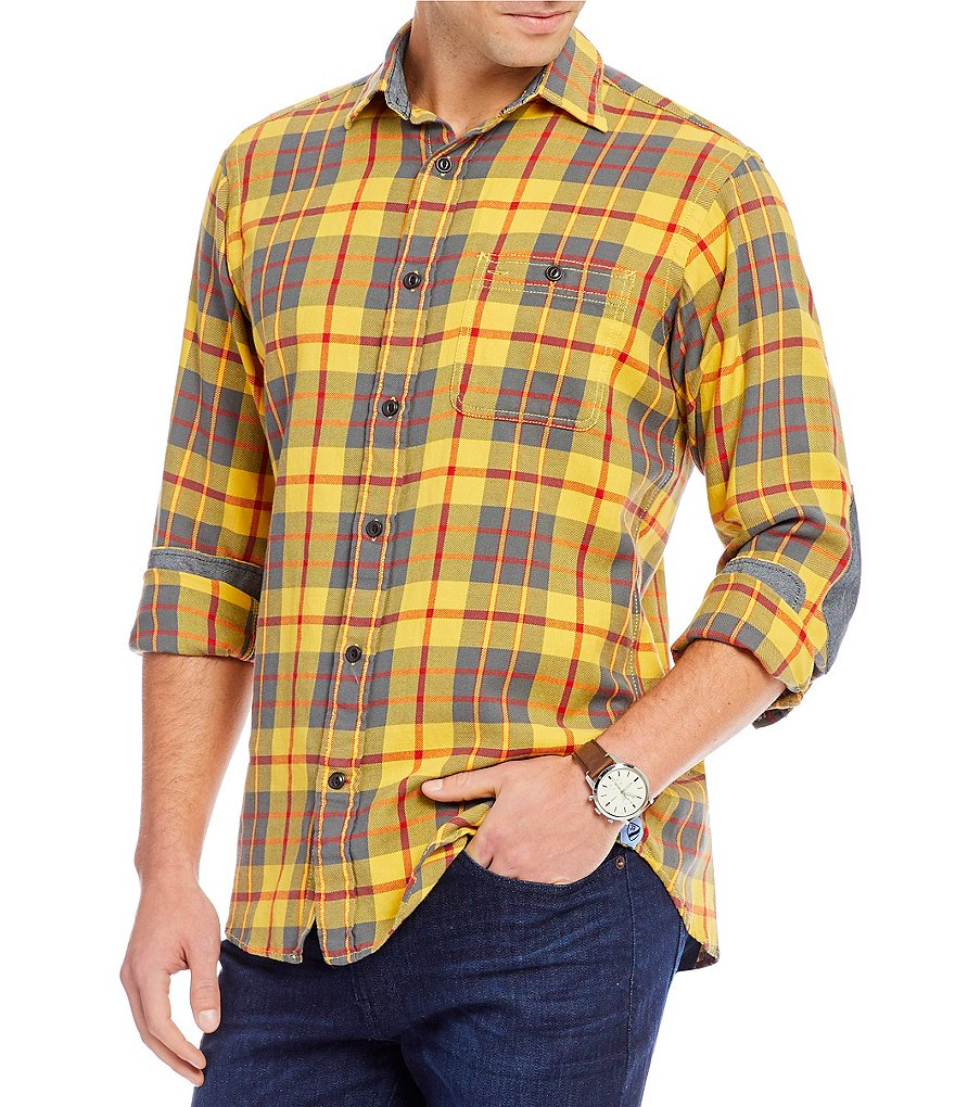 Cremieux Sologne Tartan Plaid Vintage Twill Long-Sleeve Woven Shirt