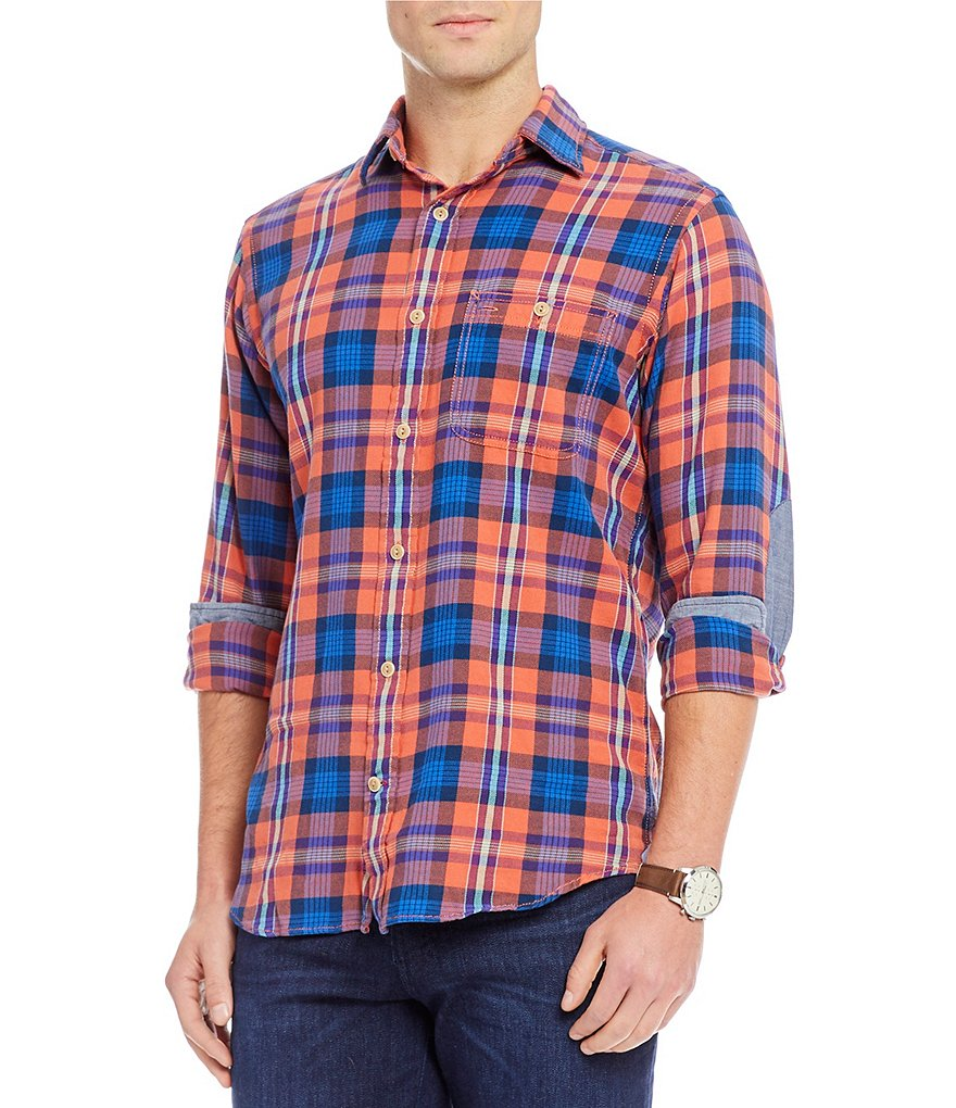 Cremieux Sologne Slim-Fit Tartan Plaid Long-Sleeve Woven Shirt