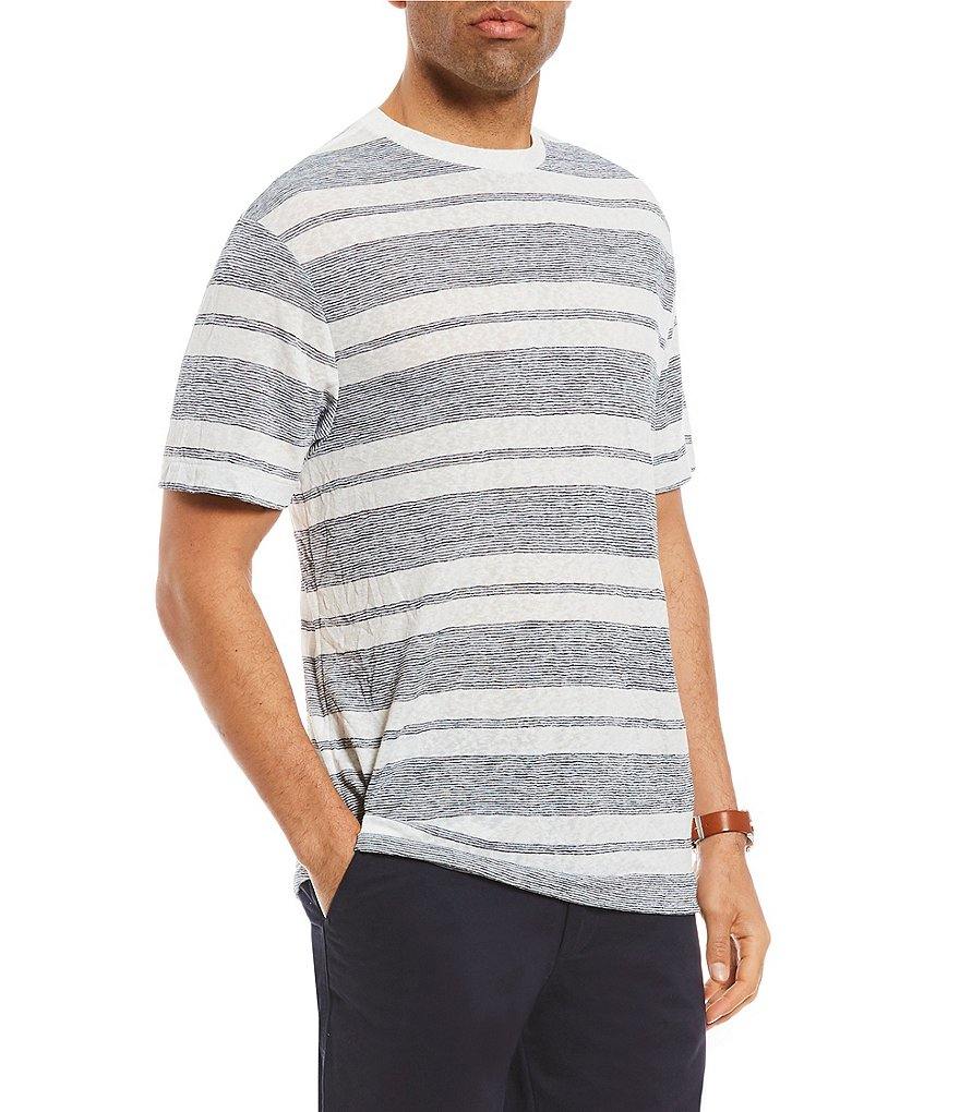 Cremieux Striped Jersey Short-Sleeve Tee