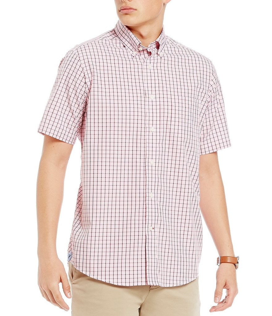 Cremieux Tattersal Check Poplin Short-Sleeve Woven Shirt