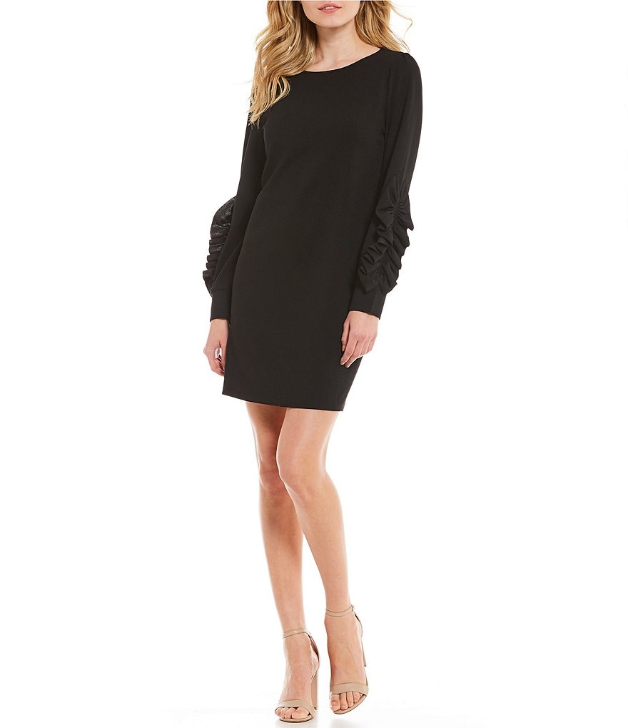 Cremieux Tina Ruffle Sleeve Dress
