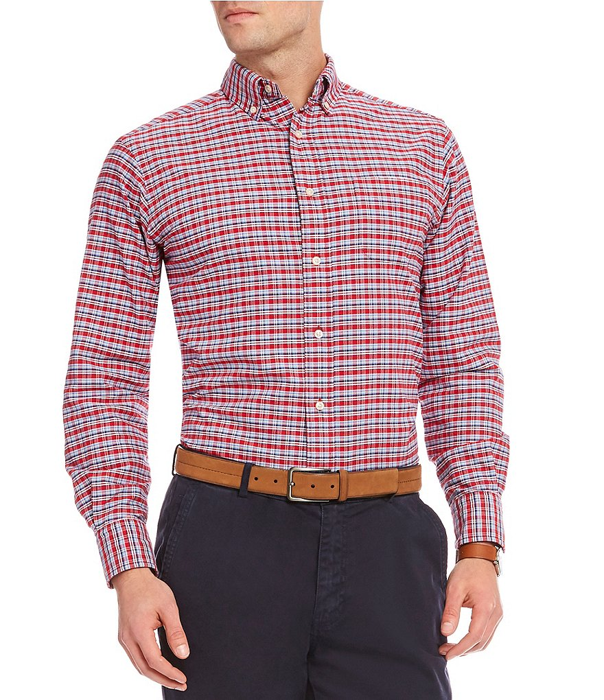 Cremieux Tropez Plaid Oxford Long-Sleeve Woven Shirt
