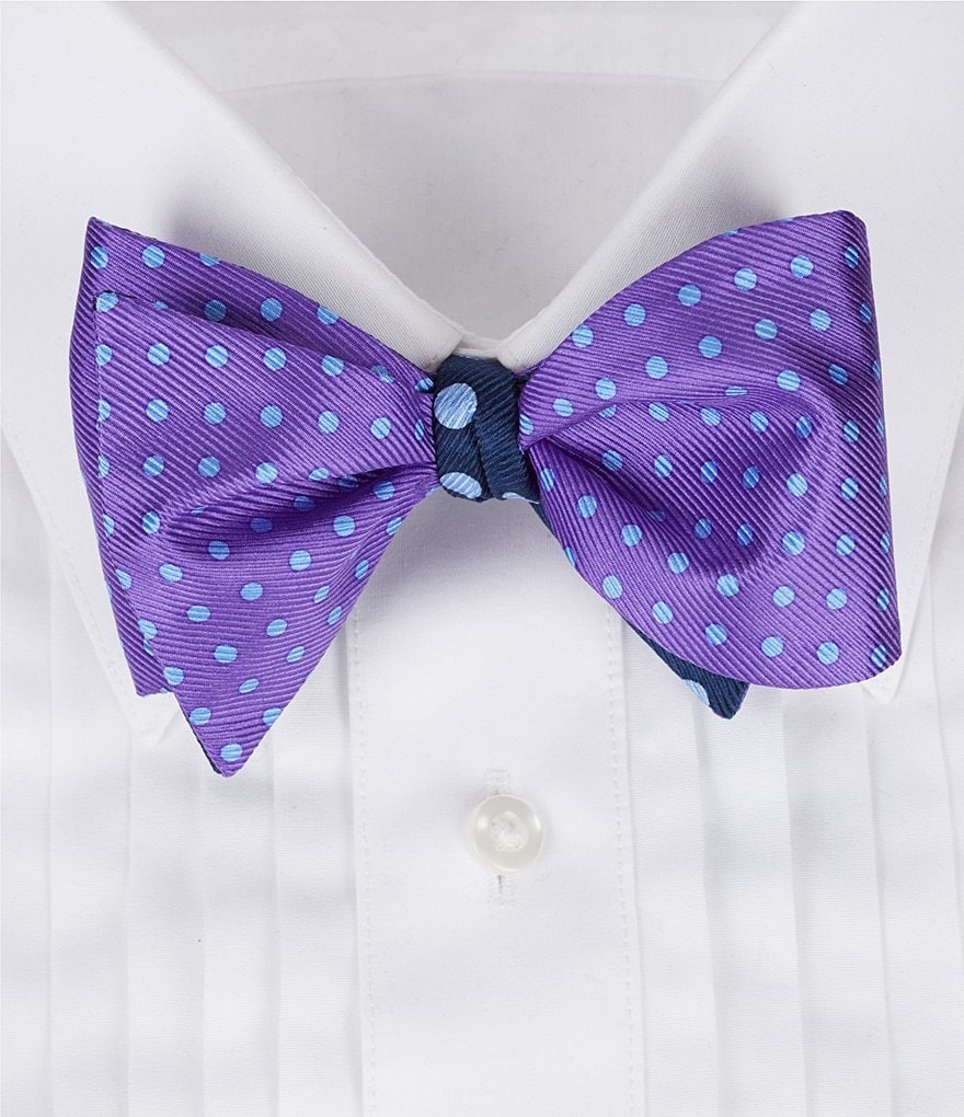 Cremieux Two-Dot Silk Bow Tie