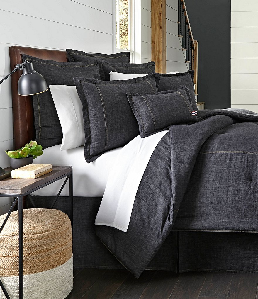 Cremieux Vintage Washed Denim Duvet