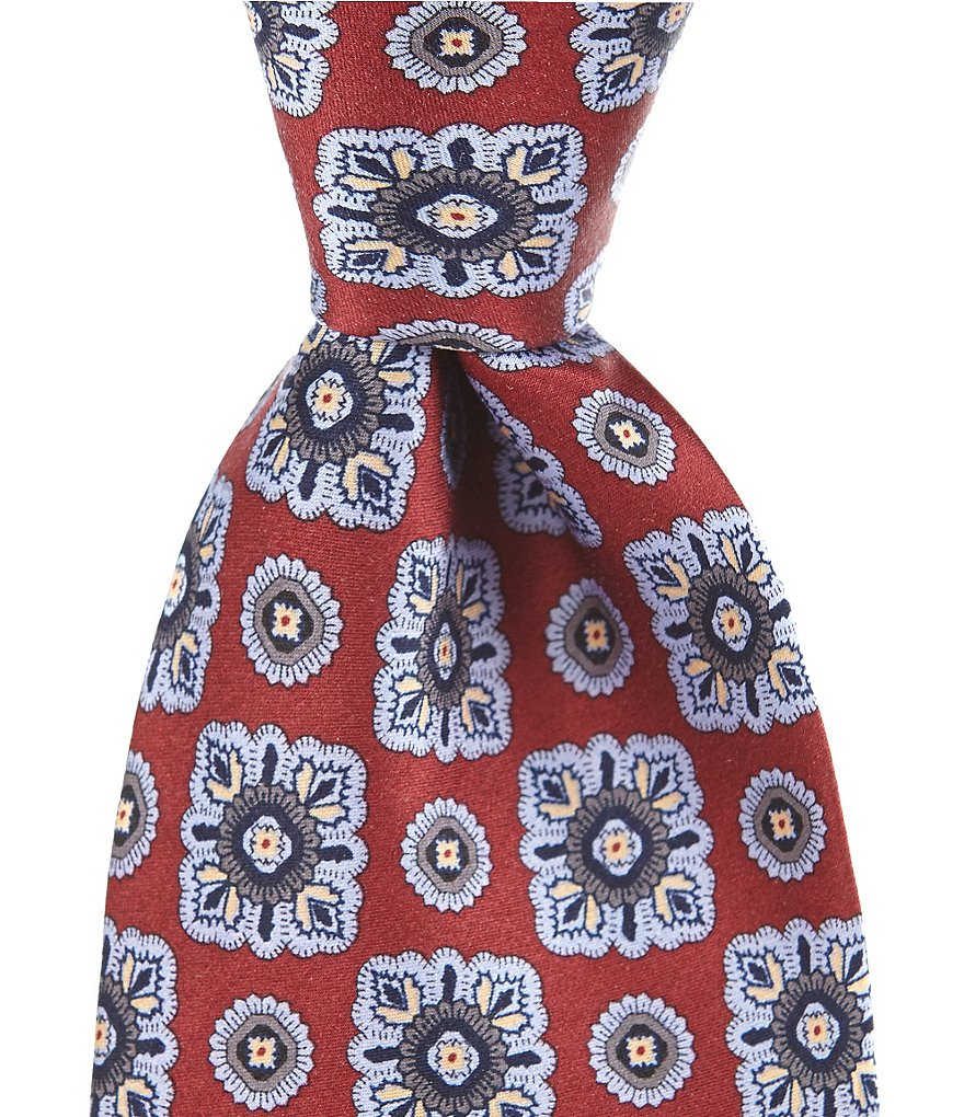 Cremieux Washed Medallion Traditional Silk Tie