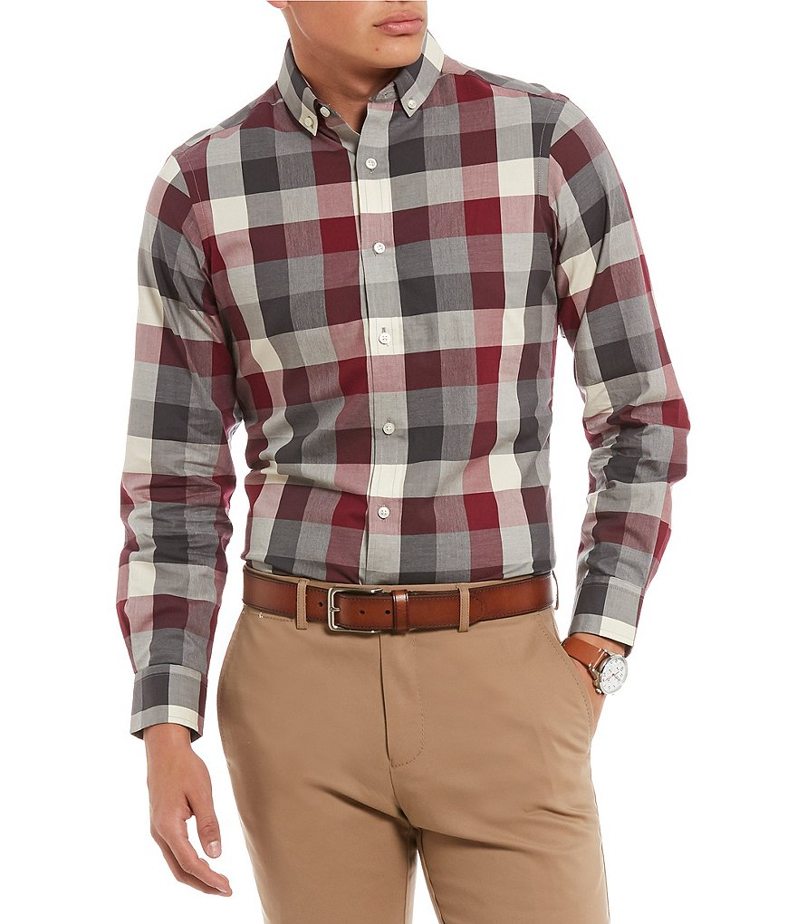 Crosby & Howard Crosby Plaid Twill Button-Down Collar Sportshirt