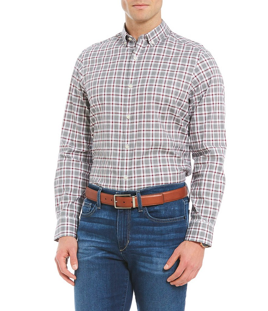 Crosby & Howard Crosby Glen Plaid Twill Button-Down Collar Sportshirt