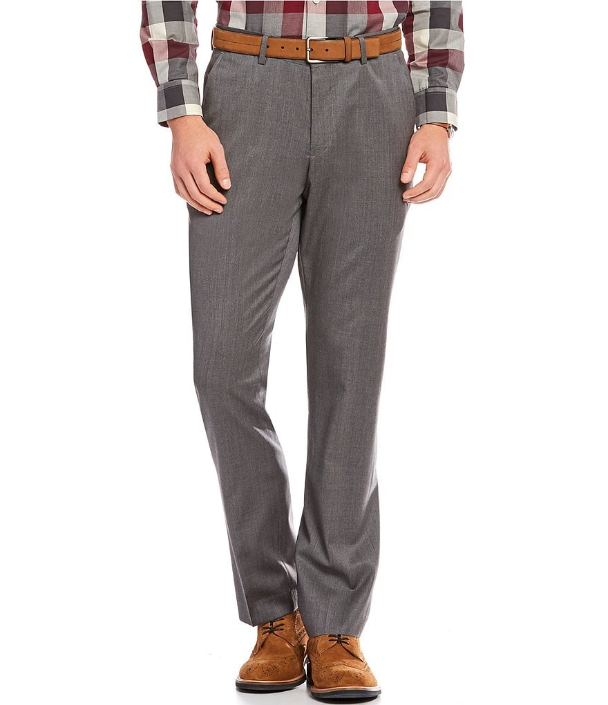 Crosby & Howard Flat-Front Straight Fit Wool Pants