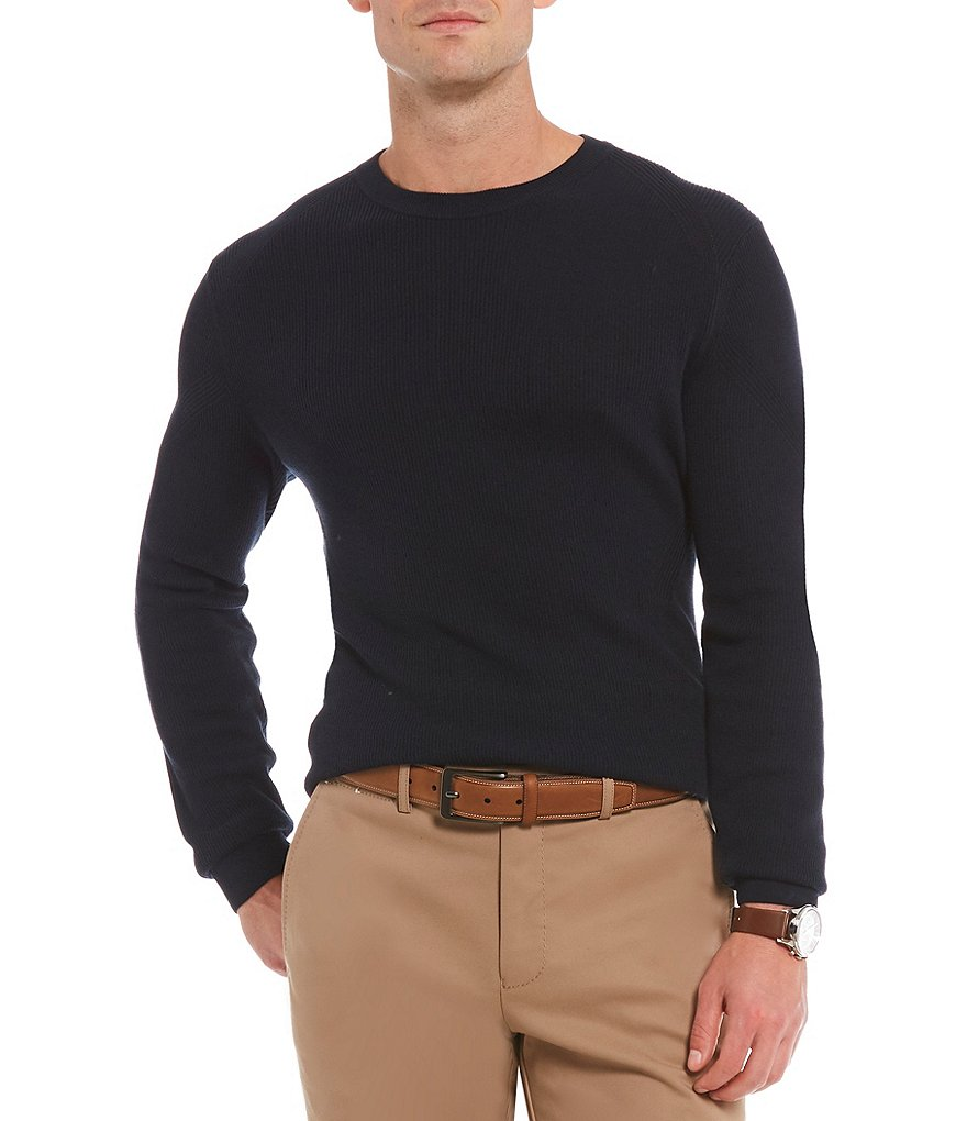Crosby & Howard Gassed Cotton Crew-Neck Sweater
