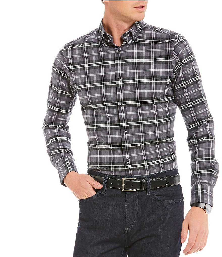 Crosby & Howard Howard Plaid Long-Sleeve Sportshirt