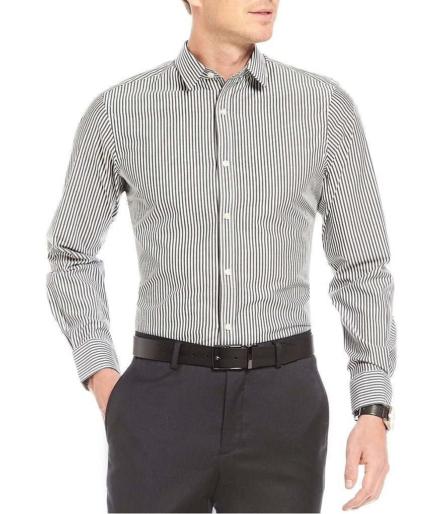 Crosby & Howard Howard Stripe Long-Sleeve Sportshirt
