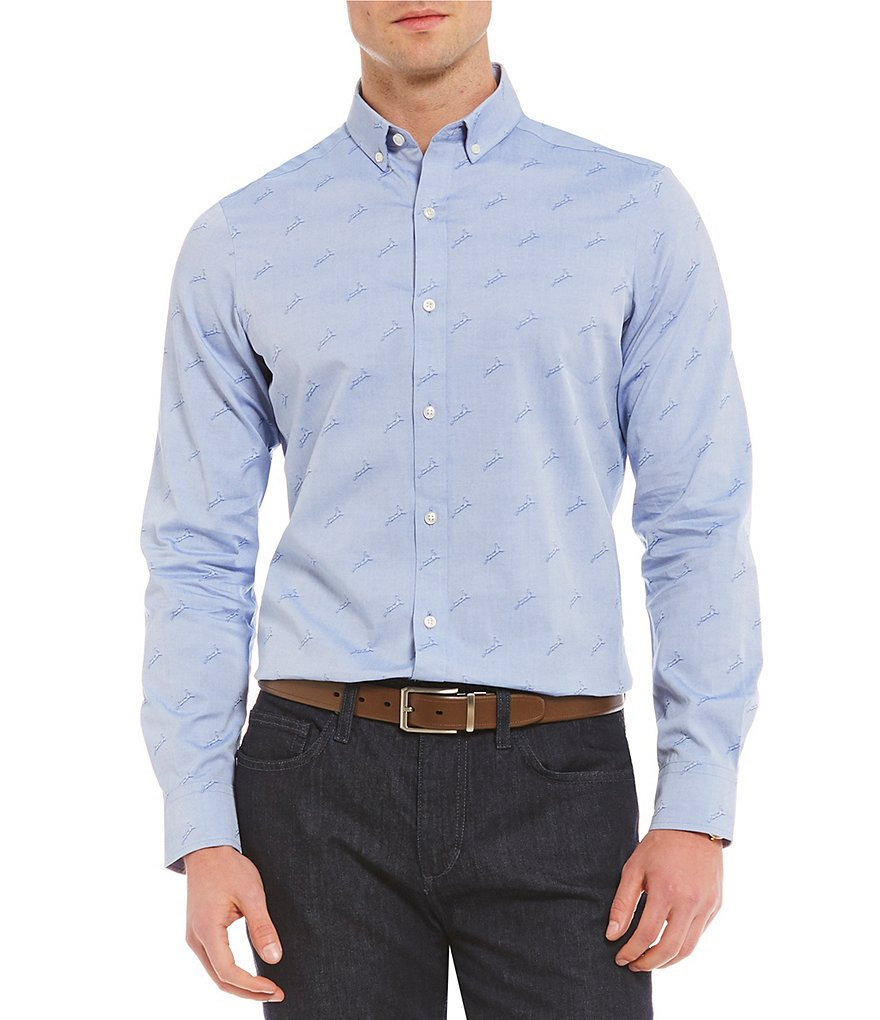 Crosby & Howard Long-Sleeve Crosby Jacquard Shirt