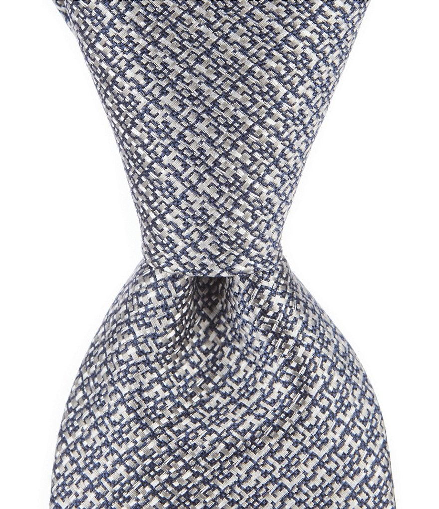 Crosby & Howard Mixed Solid Narrow 3#double; Silk Tie