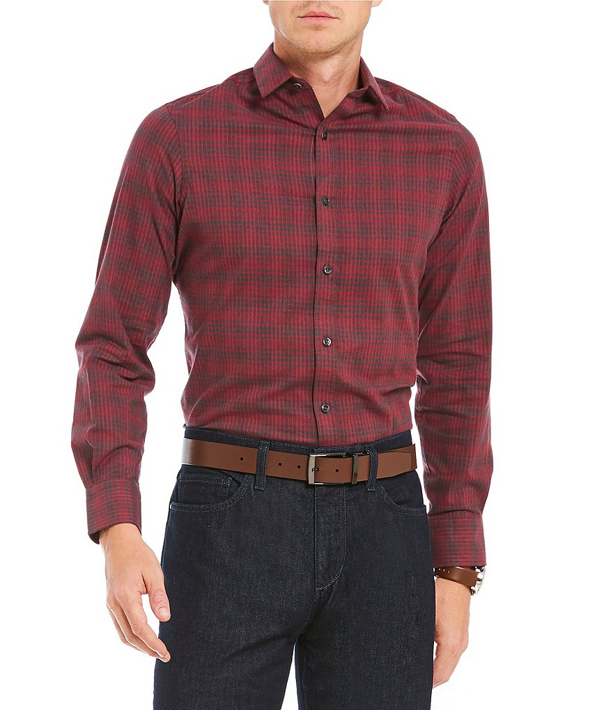 Crosby & Howard Varrick Flannel Spread Collar Sportshirt