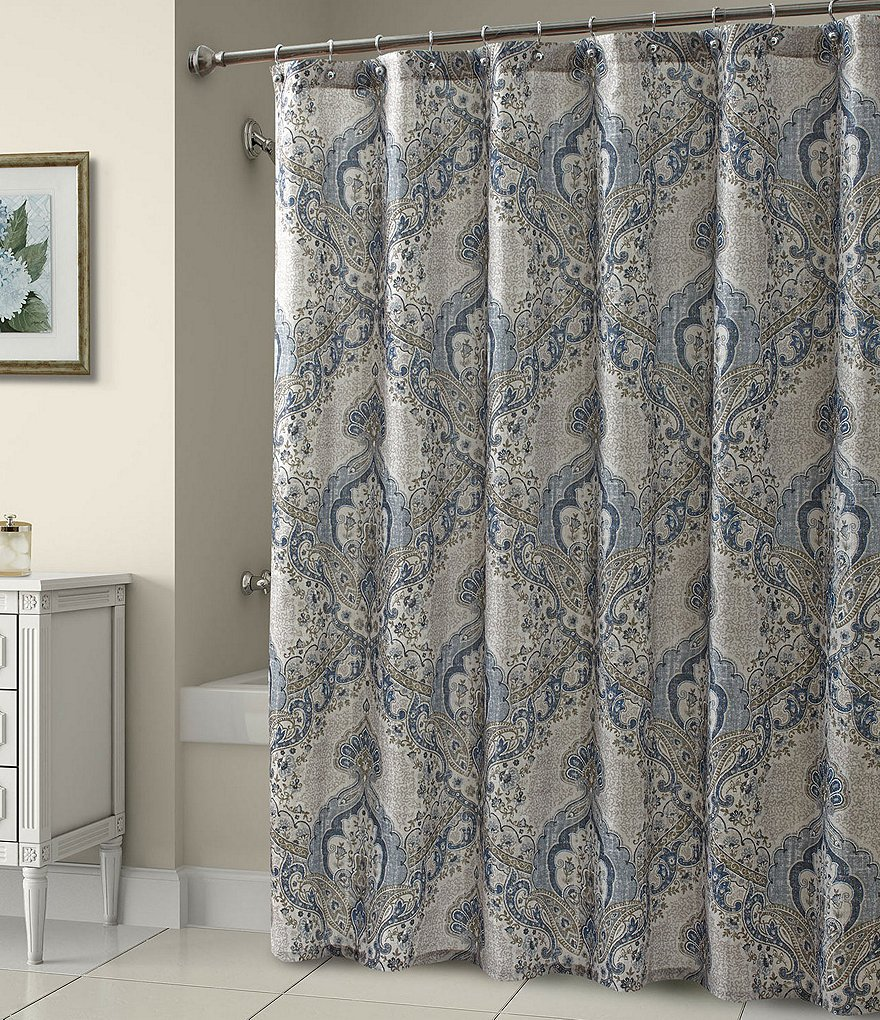 Croscill Maya Damask Shower Curtain