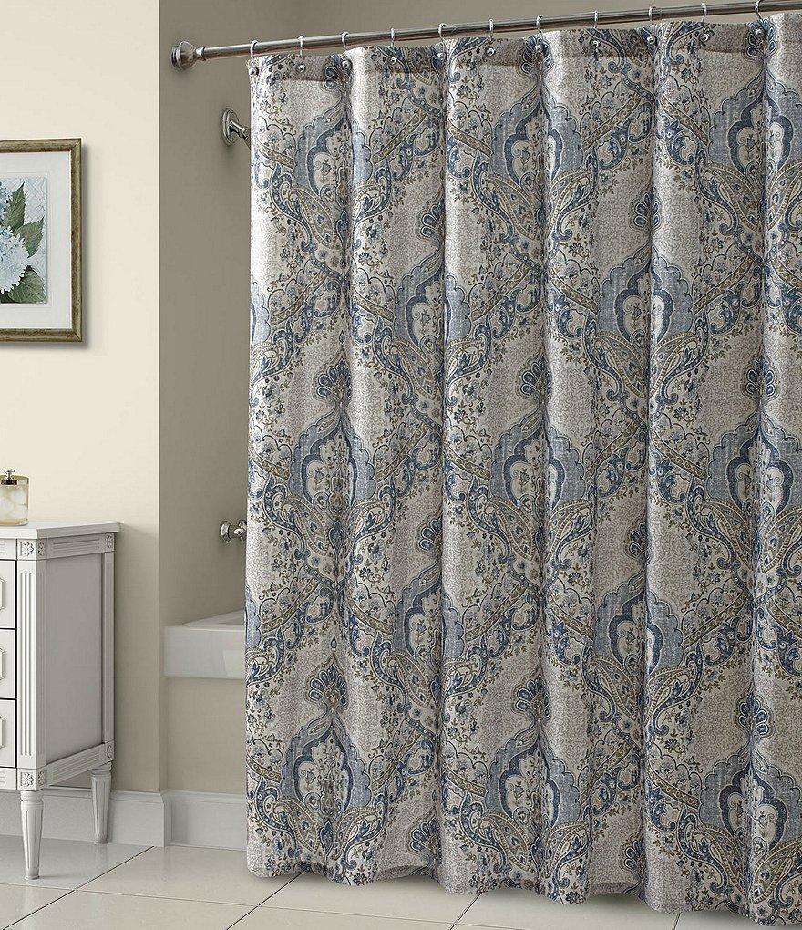 croscill maya damask shower curtain | dillards