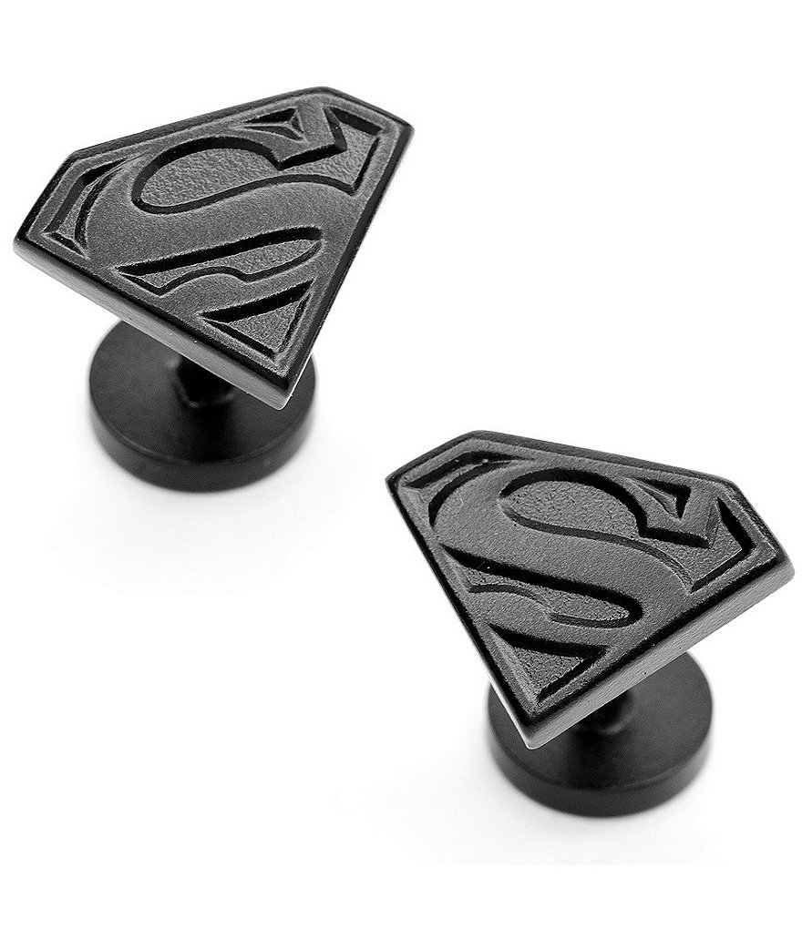 Cufflinks Inc. Satin Black Superman Cuff Links