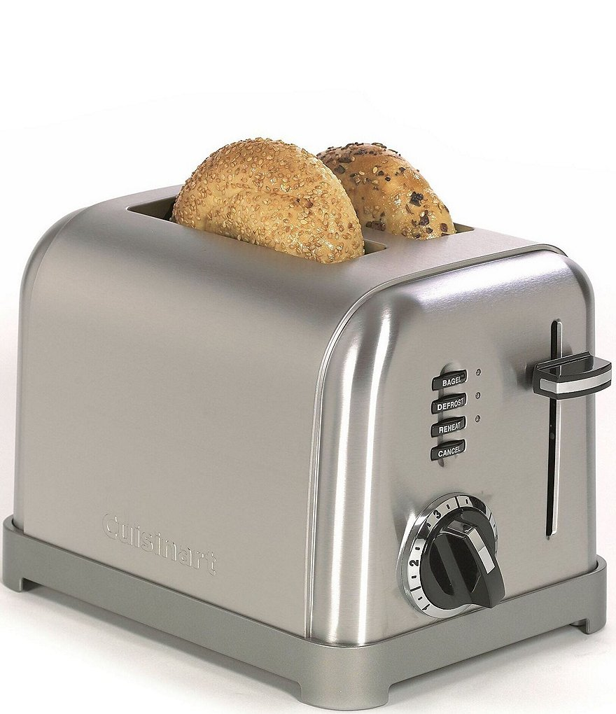 Cuisinart 2 Slice Brushed Stainless Metal Classic Toaster
