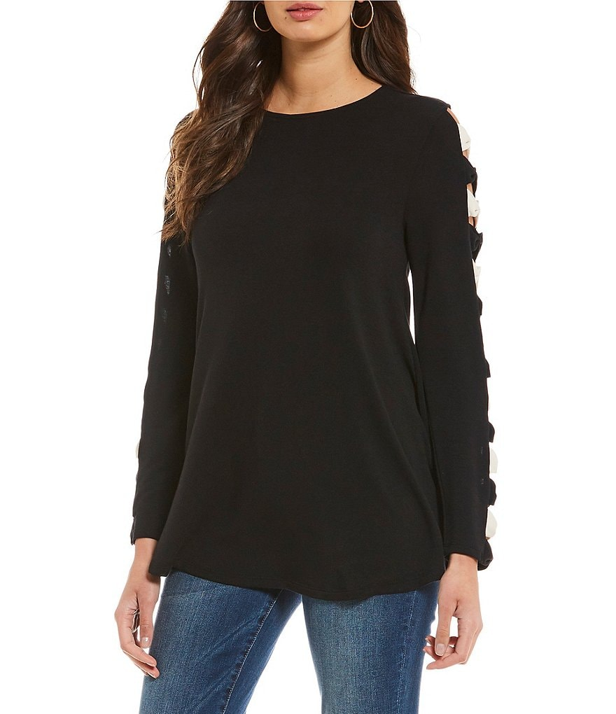 Cupio Bow Sleeve Swing Top