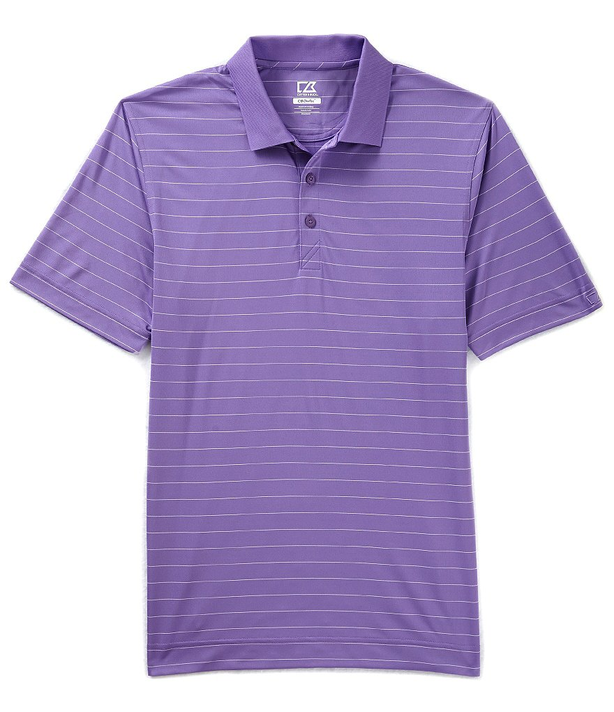 Cutter & Buck Golf Drytec Franklin Horizontal Stripe Polo Shirt