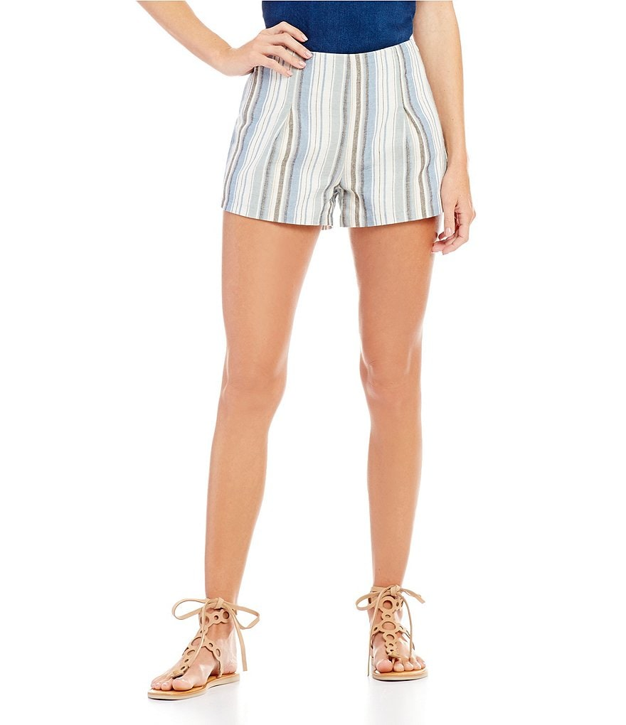 C&V Chelsea & Violet Striped Soft Shorts