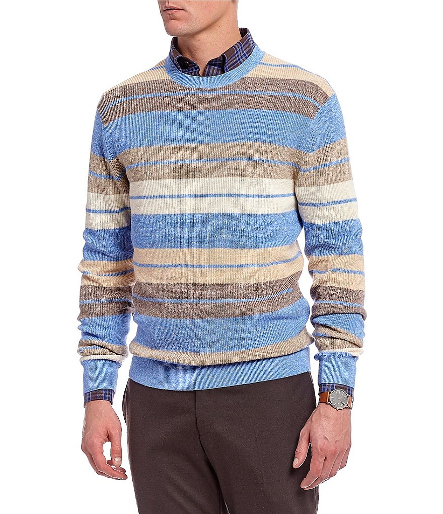 Daniel Cremieux Signature Crew All-Over Stripe Sweater