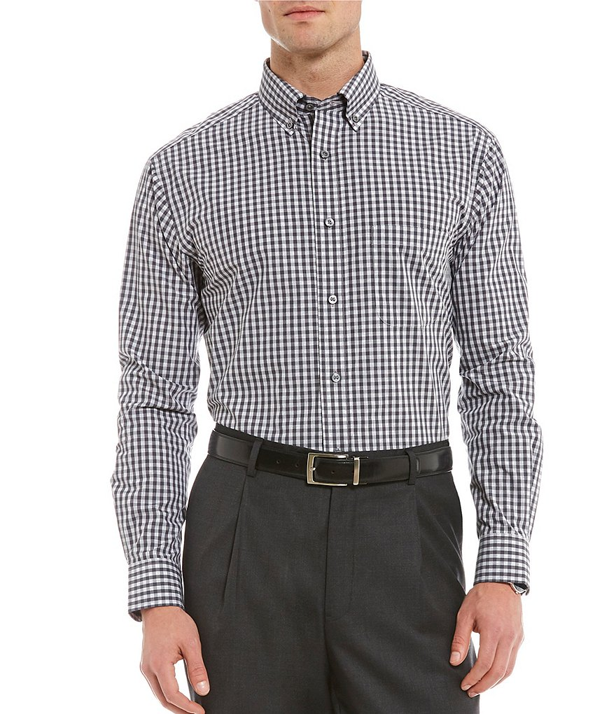 Daniel Cremieux Signature Gingham Long-Sleeve Woven Shirt