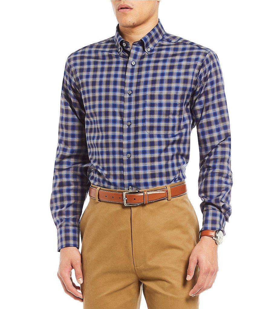 Daniel Cremieux Signature Heather Check Long-Sleeve Woven Shirt