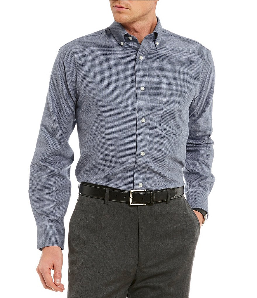 Daniel Cremieux Signature Jaspe Heather Long-Sleeve Woven Shirt