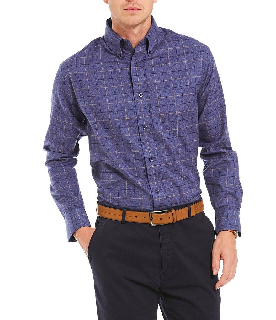 Daniel Cremieux Signature Large Check Heather Long-Sleeve Woven Shirt