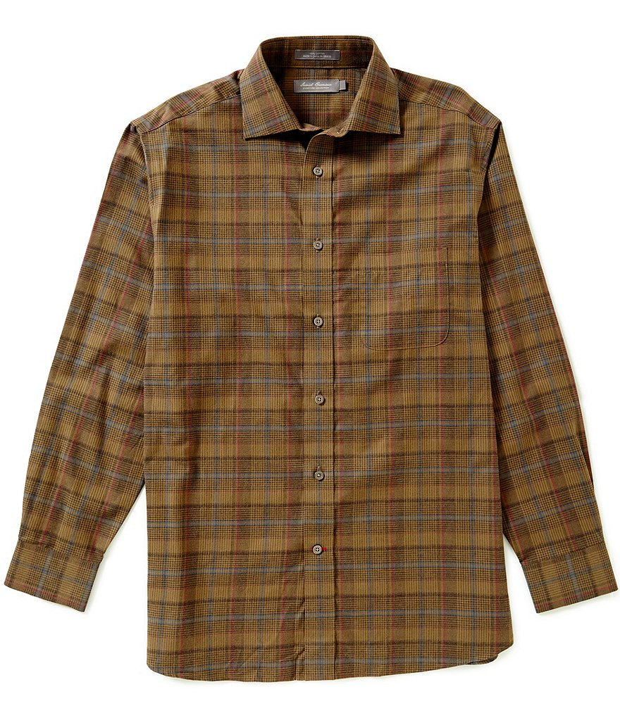 Daniel Cremieux Signature Long-Sleeve Plaid Heather Woven Shirt