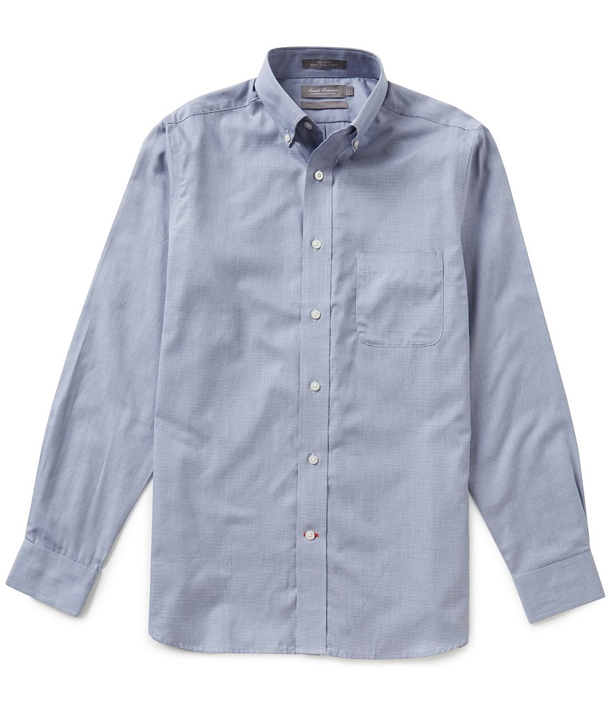 Daniel Cremieux Signature Long-Sleeve Slim-Fit Micro-Check Woven Shirt