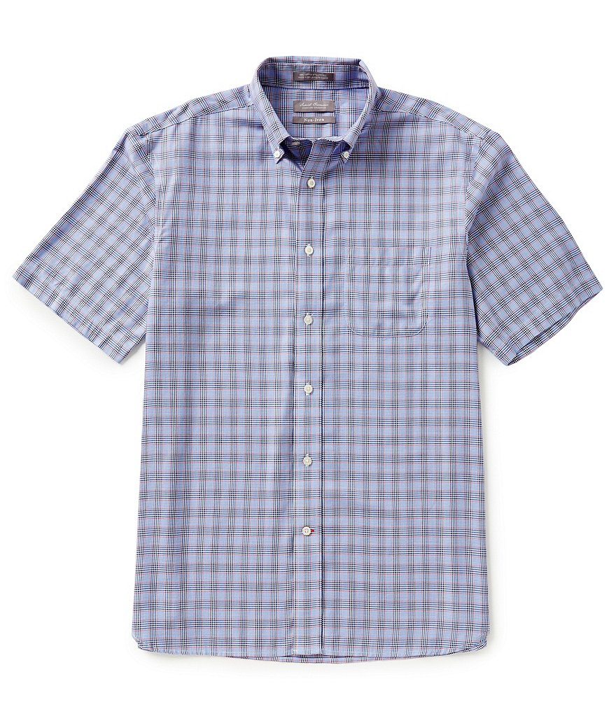 Daniel Cremieux Signature Non-Iron Short-Sleeve Check Woven Shirt